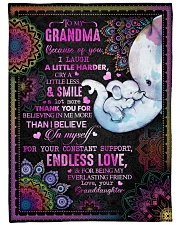 """Granddaughter to Grandma - Because Of You I Laugh  Large Fleece Blanket - 60"""" x 80"""" front"""