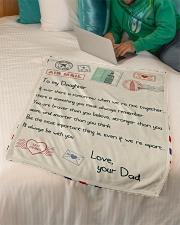 "Gift For Daughter - Fleece Blanket Small Fleece Blanket - 30"" x 40"" aos-coral-fleece-blanket-30x40-lifestyle-front-07"
