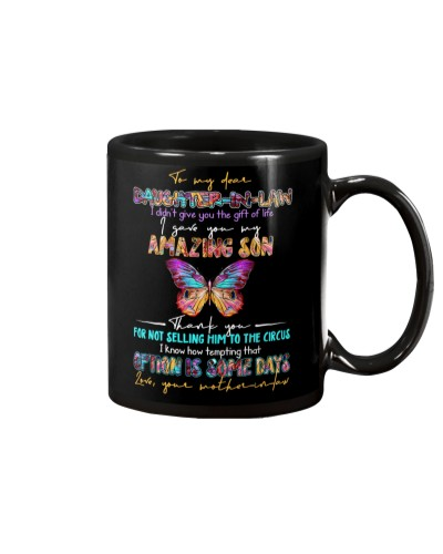 TO MY DAUGHTER-IN-LAW - BUTTERFLY - CIRCUS