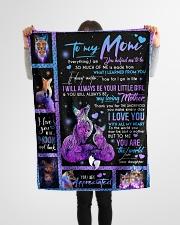 "FLEECE BLANKET - TO MY MOM - FOX Small Fleece Blanket - 30"" x 40"" aos-coral-fleece-blanket-30x40-lifestyle-front-14"