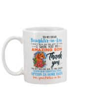 TO MY DAUGHTER-IN-LAW - FOX - ROSE - CIRCUS Mug back