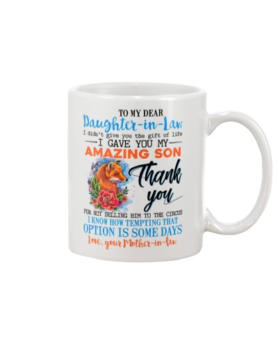 TO MY DAUGHTER-IN-LAW - FOX - ROSE - CIRCUS