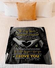 "To My Wife - The Day I Met You - Fleece Blanket Small Fleece Blanket - 30"" x 40"" aos-coral-fleece-blanket-30x40-lifestyle-front-04"