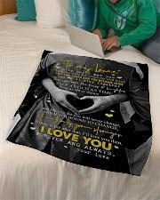 "To My Wife - The Day I Met You - Fleece Blanket Small Fleece Blanket - 30"" x 40"" aos-coral-fleece-blanket-30x40-lifestyle-front-07"