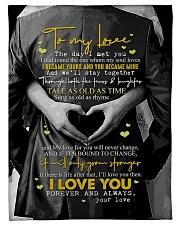 "To My Wife - The Day I Met You - Fleece Blanket Small Fleece Blanket - 30"" x 40"" front"