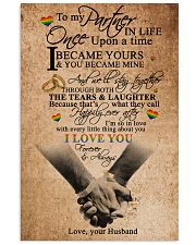 TO MY PARTNER IN LIFE 16x24 Poster front