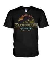 Fatherhood like a walk in the park V-Neck T-Shirt thumbnail