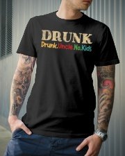 DRUNK Drunk uncle no kids Classic T-Shirt lifestyle-mens-crewneck-front-6