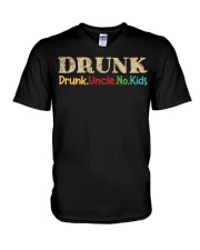 DRUNK Drunk uncle no kids V-Neck T-Shirt thumbnail