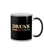 DRUNK Drunk uncle no kids Color Changing Mug tile