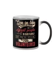 T-SHIRT - SON-IN-LAW - VINTAGE - YOU VOLUNTEERED Color Changing Mug thumbnail