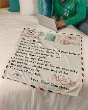 """Gifts for Mom - Fleece Blanket  Small Fleece Blanket - 30"""" x 40"""" aos-coral-fleece-blanket-30x40-lifestyle-front-07"""