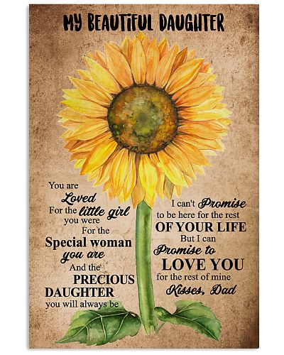 TO MY DAUGHTER - SUNFLOWER - BEAUTIFUL GIRL