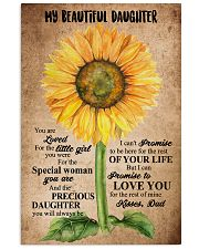 TO MY DAUGHTER - SUNFLOWER - BEAUTIFUL GIRL 16x24 Poster front