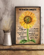 TO MY DAUGHTER - SUNFLOWER - BEAUTIFUL GIRL 16x24 Poster lifestyle-poster-3