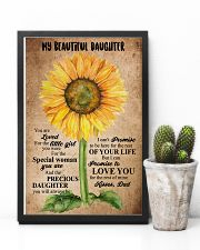 TO MY DAUGHTER - SUNFLOWER - BEAUTIFUL GIRL 16x24 Poster lifestyle-poster-8