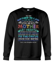 MOTHER-IN-LAW - FUNNY T-SHIRT - THANK YOU Crewneck Sweatshirt thumbnail