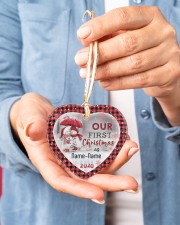 Husband and Wife - Our First Christmas 2020 Heart ornament - single (porcelain) aos-heart-ornament-single-porcelain-lifestyles-01