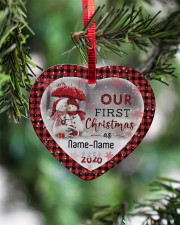 Husband and Wife - Our First Christmas 2020 Heart ornament - single (porcelain) aos-heart-ornament-single-porcelain-lifestyles-07