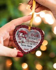 Husband and Wife - Our First Christmas 2020 Heart ornament - single (porcelain) aos-heart-ornament-single-porcelain-lifestyles-09