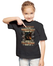 GRANDMA TO GRANDSON - DRAGON - SPOILED Youth T-Shirt lifestyle-youth-tshirt-front-2
