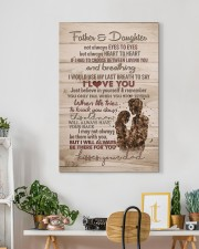 To My Daughter - Father And Daughter Not Always  20x30 Gallery Wrapped Canvas Prints aos-canvas-pgw-20x30-lifestyle-front-03