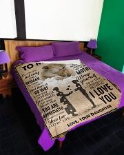 """To My Mom - Lion - Fleece Blanket Large Fleece Blanket - 60"""" x 80"""" aos-coral-fleece-blanket-60x80-lifestyle-front-01"""