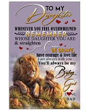 POSTER- TO MY DAUGHTER - LION - WHENEVER YOU FEEL 16x24 Poster front
