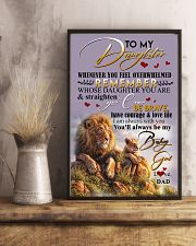 POSTER- TO MY DAUGHTER - LION - WHENEVER YOU FEEL 16x24 Poster lifestyle-poster-3