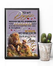 POSTER- TO MY DAUGHTER - LION - WHENEVER YOU FEEL 16x24 Poster lifestyle-poster-8
