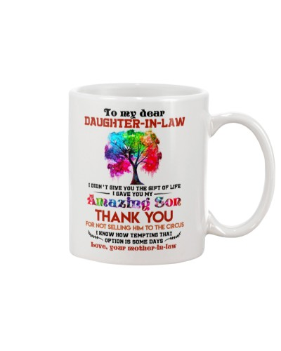 TO MY DAUGHTER-IN-LAW - COLORFUL TREE - CIRCUS