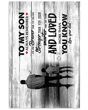 Dad To Son - Canvas Vertical Poster tile