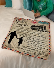 """Dad to Daughter Trucker - Never Feel That You  Small Fleece Blanket - 30"""" x 40"""" aos-coral-fleece-blanket-30x40-lifestyle-front-07"""