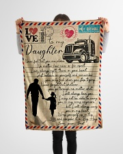 "Dad to Daughter Trucker - Never Feel That You  Small Fleece Blanket - 30"" x 40"" aos-coral-fleece-blanket-30x40-lifestyle-front-14"