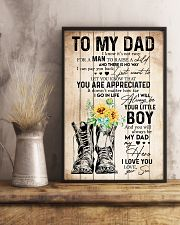 TO MY DAD - SUNFLOWER - YOU ARE APPRECIATED 16x24 Poster lifestyle-poster-3