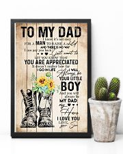 TO MY DAD - SUNFLOWER - YOU ARE APPRECIATED 16x24 Poster lifestyle-poster-8