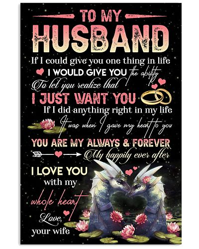 TO MY HUSBAND - DRAGON - LOVE YOU
