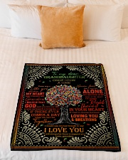 "Grandma to Granddaughter - I Love You  Small Fleece Blanket - 30"" x 40"" aos-coral-fleece-blanket-30x40-lifestyle-front-04"