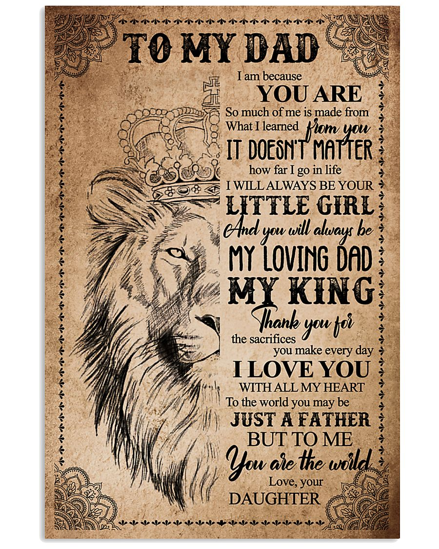 POSTER - TO MY DAD - LION - THANK YOU 16x24 Poster