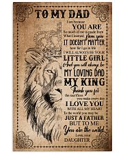 POSTER - TO MY DAD - LION - THANK YOU 16x24 Poster front