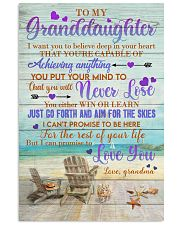 To Granddaughter - Just Go Forth And Aim For The 16x24 Poster front