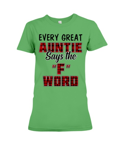 Every great Auntie says the F word