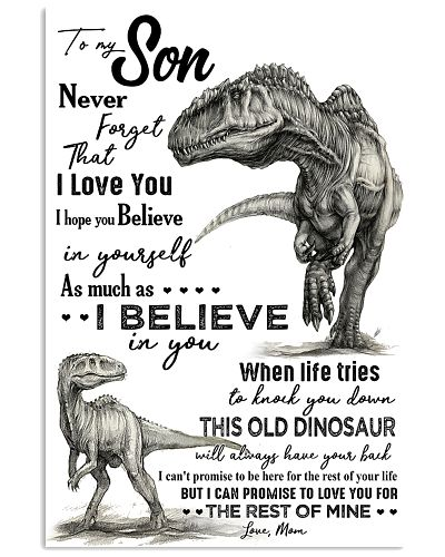 TO MY SON - T REX PENCIL ART - OLD DINOSAUR