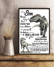 TO MY SON - T REX PENCIL ART - OLD DINOSAUR 16x24 Poster lifestyle-poster-3