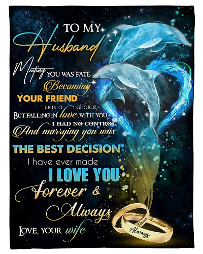 TO MY HUSBAND - DOLPHIN - I LOVE YOU