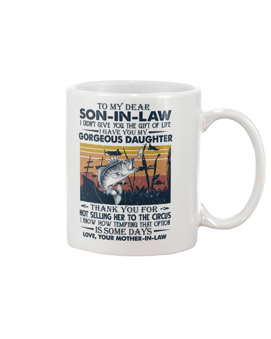 TO MY SON-IN-LAW - FISHING - VINTAGE - CIRCUS Mug