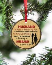 Christmas - Husband - The Best Gift At Christmas  Circle ornament - single (porcelain) aos-circle-ornament-single-porcelain-lifestyles-07