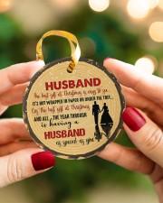 Christmas - Husband - The Best Gift At Christmas  Circle ornament - single (porcelain) aos-circle-ornament-single-porcelain-lifestyles-08