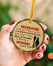 Christmas - Husband - The Best Gift At Christmas  Circle ornament - single (porcelain) aos-circle-ornament-single-porcelain-lifestyles-09