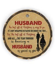 Christmas - Husband - The Best Gift At Christmas  Circle Ornament (Wood tile